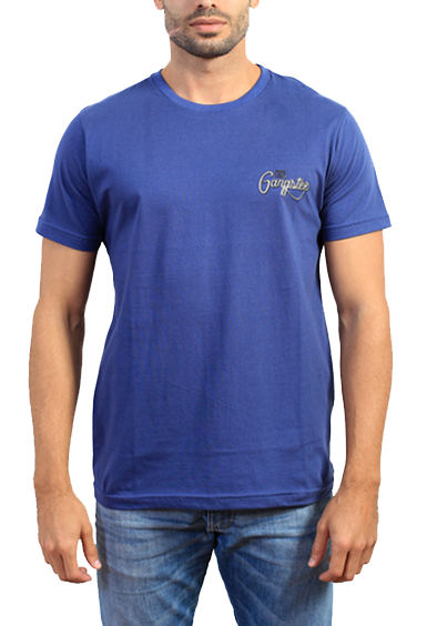 Gangster Camiseta Azul Estampada